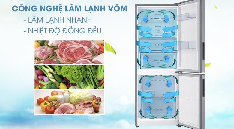 Công nghệ làm lạnh dạng vòm - Tủ lạnh Samsung Inverter 280 lít RB27N4010S8/SV