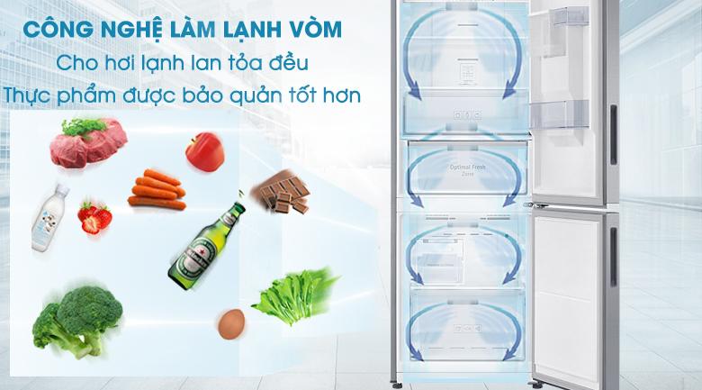 Công nghệ làm lạnh vòm mang hơi lạnh phân bố đồng đều đến mọi vị trí trong tủ