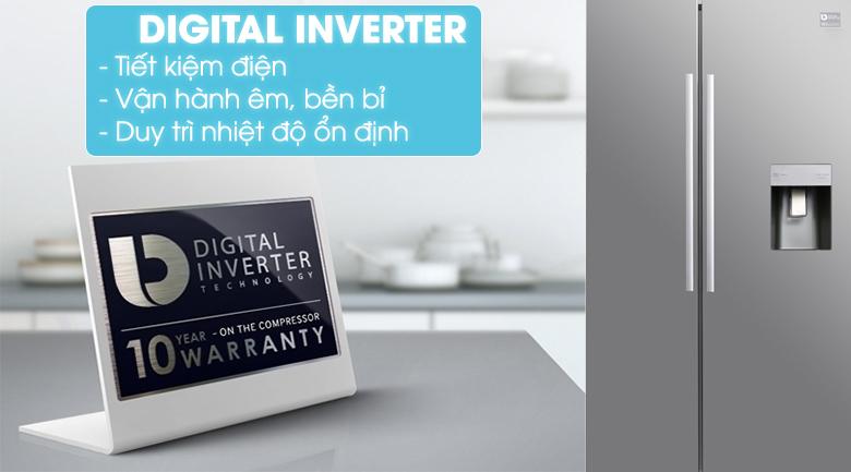 Trang bị công nghệ Digital Inverter hiện đại - Tủ lạnh Samsung Inverter 538 lít RS52N3303SL/SV