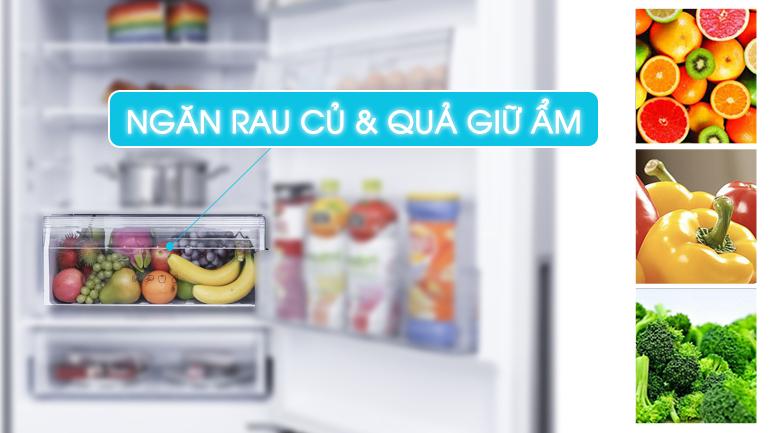 Ngăn rau củ và quả giữ ẩm tươi ngon - Tủ lạnh Panasonic Inverter 290 lít NR-BV329QSV2