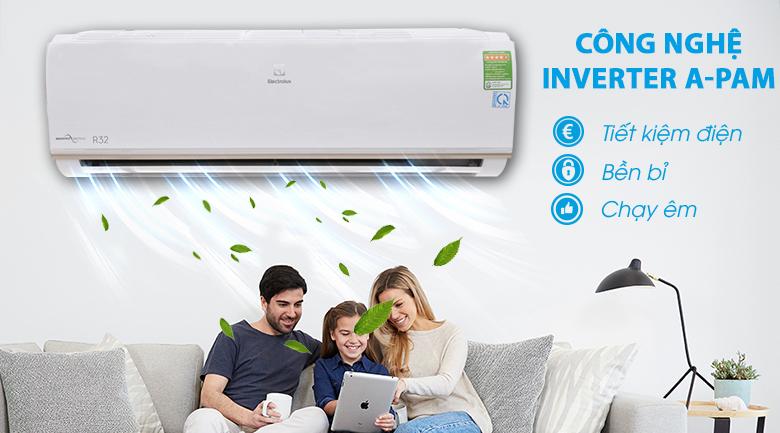 Tiết kiệm điện năng tối ưu, vận hành êm ái với công nghệ Inverter A-PAM