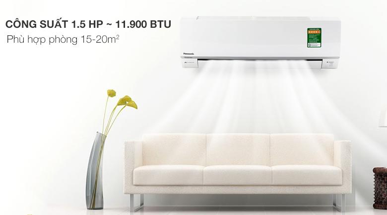 Điều hòa 2 chiều Panasonic Inverter 11900 BTU CU/CS-YZ12SKH