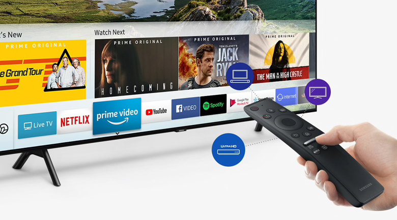 Smart Tivi QLED Samsung 4k 55 inch QA55Q75R - One Remote