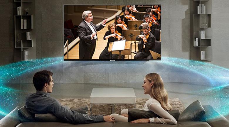 Công nghệ âm thanh Dolby Digital Plus trên Smart Tivi Samsung 4K 55 inch UA55NU7090