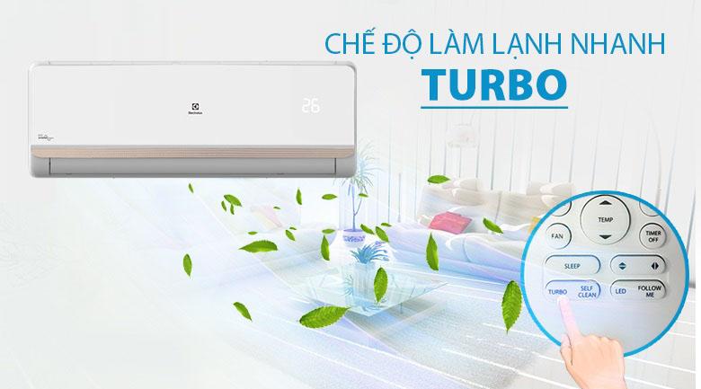 Làm lạnh nhanh Turbo - Điều hòa Electrolux Inverter 1.5 HP ESV12CRR-C2