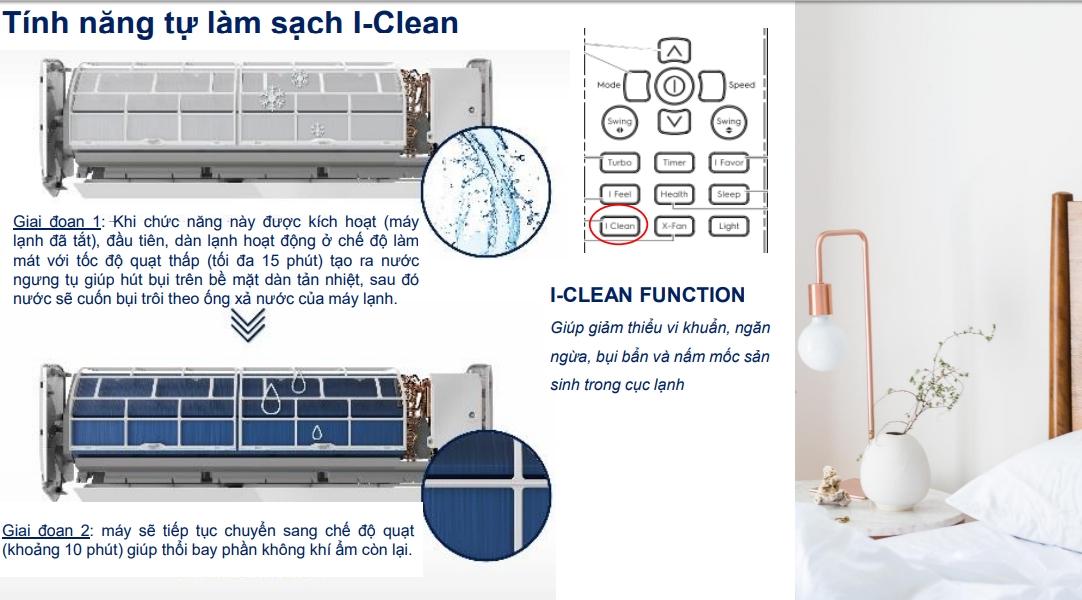 Công nghệ I- Clean có khả năng loại bỏ vi khuẩn