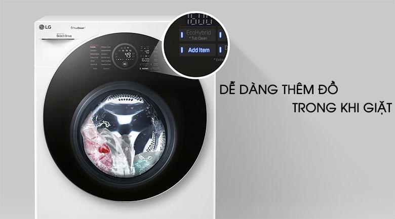 Thêm đồ trong khi giặt - Máy giặt sấy LG Inverter 10.5 kg FG1405H3W