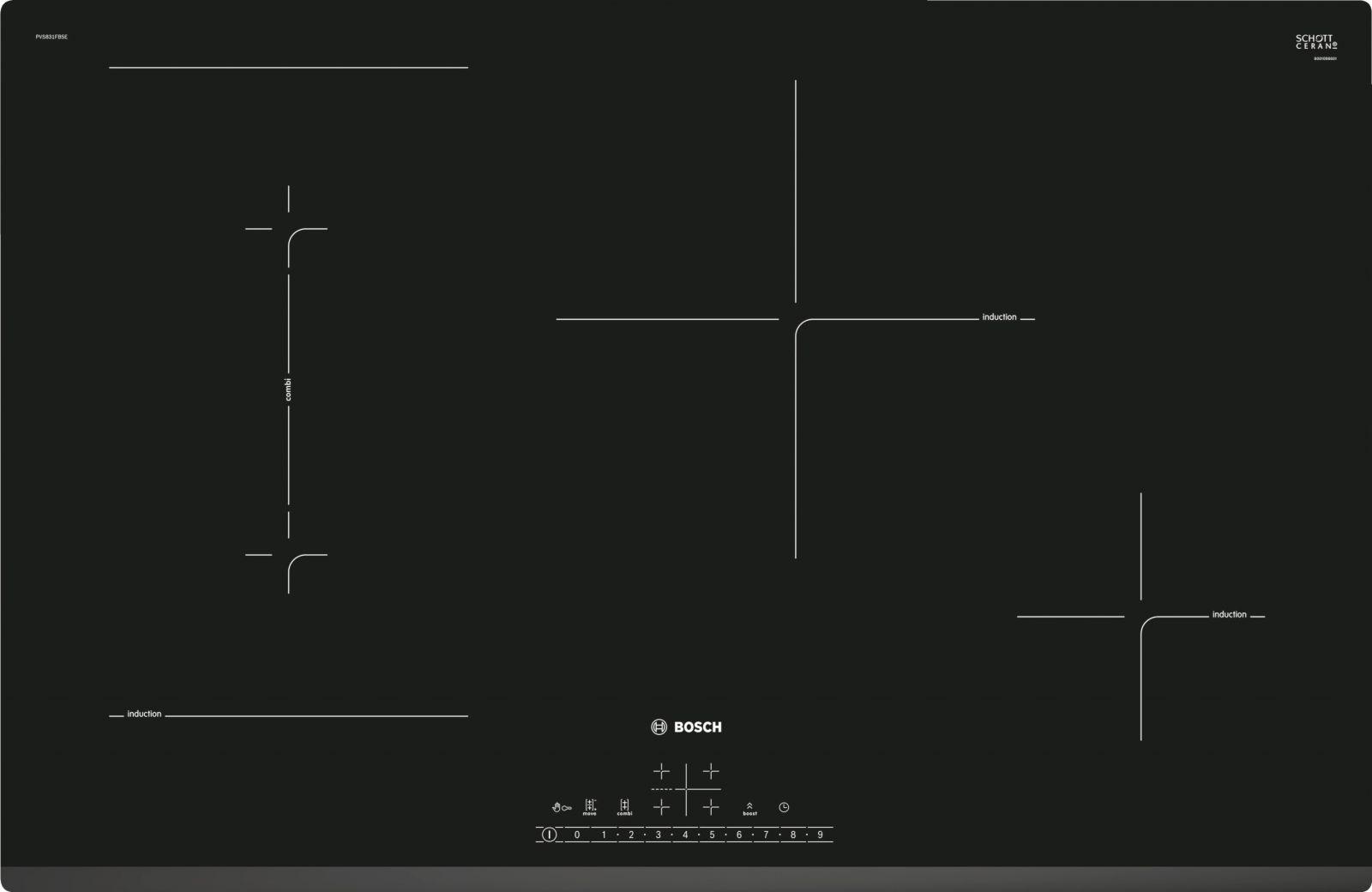 Bếp điện từ Bosch HMH.PVS831FB5E