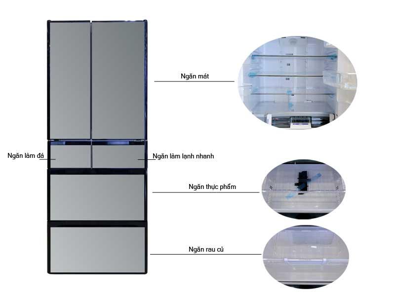 Tủ Lạnh Hitachi RG570GVXK Dung Tích 589L