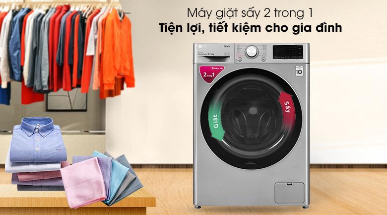 Máy giặt sấy LG Inverter 9 kg FV1409G4V - Máy giặt sấy 2 trong 1